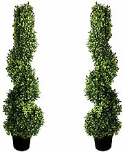 GreenBrokers Künstliche Buchsbaum, spiralförmig