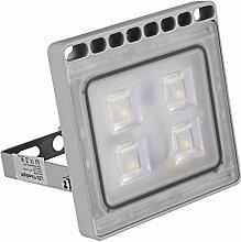 Greencolourful 20W Ultradünnes LED Flutlicht Scheinwerfer Strahler Licht Wasserdichte IP65 LED Wandlampe Fluter SMD2835 220-240V Aluminium + PC, Weiß