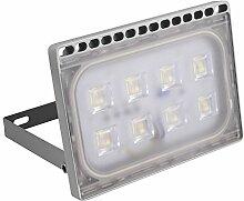 Greencolourful 50W Ultradünnes LED Flutlicht Scheinwerfer Strahler Licht Wasserdichte IP65 LED Wandlampe Fluter SMD2835 220-240V Aluminium + PC, Weiß