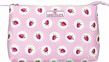 GreenGate Cosmetic Bag Strawberry Pale pink Large