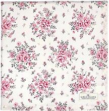 Greengate COTTAB140FLO0102 Flora Tischdecke weiss