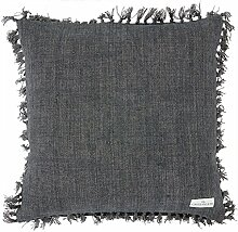 GreenGate Kissenhülle - Cushion Cover - Heavy Linen Dark Grey 50x50 cm