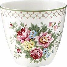 GreenGate Latte Cup Aurelia White Höhe 9 cm