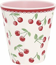 GreenGate Melaminbecher Cherry White Mug aus