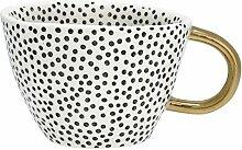 GreenGate- Mug/ Becher- Dot black w/gold