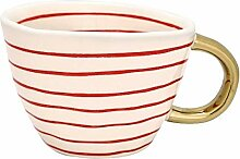 GreenGate- Mug/Becher- Sally Red w/Gold