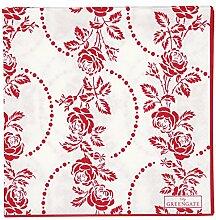 Greengate Papierservietten Fleur red large 20
