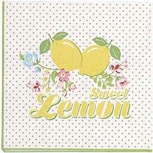 GreenGate PAPNAPSLIM0112 Limona Servietten White