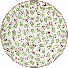 GreenGate Plate Lily Petit White