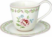 GreenGate STWCUPLLP0106 Lily Tasse mit Untertasse