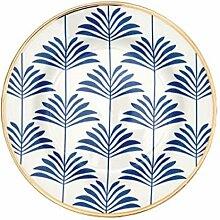 GreenGate Teller Gate Noir Maxime Blau Weiß 20 cm