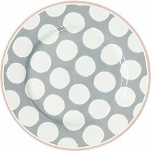 GreenGate Teller - Plate - Aura Grey 20,5 cm