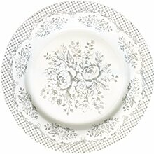 GreenGate Teller - Plate - Stephanie Warm Grey
