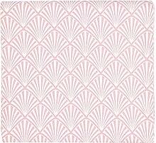 GreenGate Tischdecke Gate Noir Tischdecke Celine Pale Pink Rosa Fächer Muster 145x250 cm
