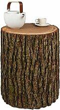 GREENHAUS Baumstamm Beistelltisch mit Rinde 30-35