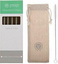 greenique - Premium Edelstahl Strohhalm Set | 4