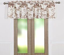 Greenland Home Fenster Querbehang, Taupe