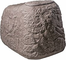 GreenLife Dekor-Regenspeicher Findling, granitrot, 120 x 80 x 85 cm, 500 L, G0000414