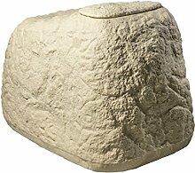 GreenLife Dekor-Regenspeicher Findling, sand, 120 x 80 x 85 cm, 500 L, G0000417