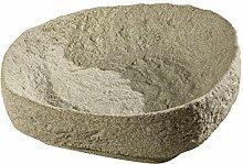 GreenLife Pflanzschale für Dekor-Regenspeicher Hinkelstein, sand, 47 x 47 x 16 cm, G0000429