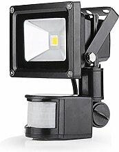 Greenmigo 10W LED Strahler Fluter+Bewegungsmelder