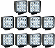 Greenmigo 10X 48W 16 LEDs Offroad Lampe LED