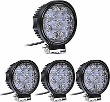 Greenmigo 4X 27W 9 LEDs Offroad Lampe LED