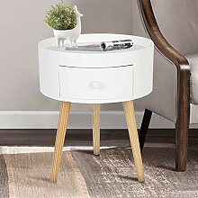 Greensen Beistelltisch Weiß Holz Nachttisch Klein