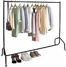 Greensen Kleiderstange Kleiderständer auf Rollen,