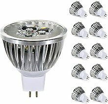 GreenSun LED Lighting 10er MR16 GU5.3 LED Lampe 3W
