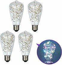 GreenSun LED Lighting 4er Edison E27 LED Lampe