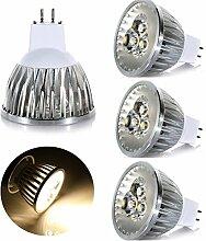 GreenSun LED Lighting 4er MR16 GU5.3 LED Lampe 3W