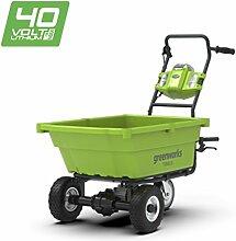 Greenworks 40V Akku-Gartenwagen (ohne Akku und