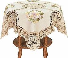 Grelucgo Kleine handgemachte Häkel-Tischdecke aus