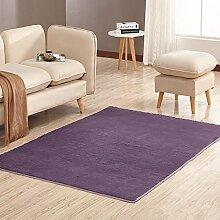 GRENSS 1 Stück dicken bequemen Teppich für Wohnzimmer Rutschfeste Teppiche auf dem Boden weich Solide Wolldecken für Badezimmer 8 Farben V 20, Dunkelgrau, 80 x 120 cm