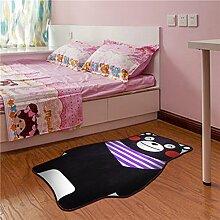 GRENSS 100 * 160 cm Cartoon Bear Teppich Kid Schwarz Wolldecke für Baby Schlafzimmer Teppich Kinderzimmer, Teppiche, Wohnzimmer Anti-Rutsch-Matte, schwarz, 80cmx120cm
