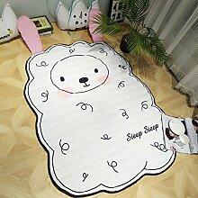 GRENSS 100% Eis Baumwolle Kinder Wolldecke Baby spielt Crawling Mat Cartoon Schafe Pinguin Bär Panda Cloud Teppich und Teppiche für Kinder, Pad, 1550mmx1100MM, Schafe