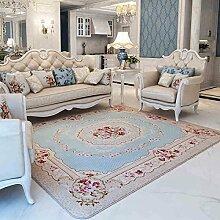 GRENSS 200 cm * 240 cm Romantisch rosa Rose Wolldecke für Wohnzimmer, eleganten amerikanischen Landhausstil Teppich Schlafzimmer, Branded Wolldecke und Mat, B, 130cmx190cm