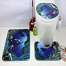 GRENSS 3 pcs Badezimmer Matten Set