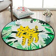 GRENSS Cartoon Tier runden Teppich für Wohnzimmer