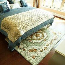 GRENSS Europäische Polyester Floral großer Teppich Plüsch weiche Baby Kind Spielteppich Teppich Home Wohnzimmer, Dekor, Grün, 130 x 190 cm