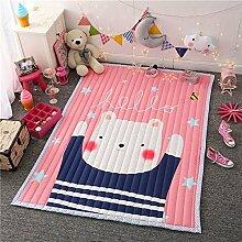 GRENSS Faltbare Baby Puzzle Matte Geschenk Super dick und weich Kinder Decke Wohnzimmer Wolldecke Skidproof Tatami Teppich, rosa Bären