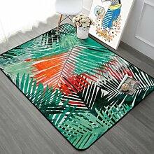 GRENSS Grün Orange Blatt Muster Teppich Teppiche