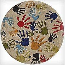 GRENSS Handgefertigte Teppiche Kinder Tapis Salon