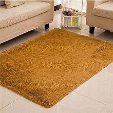 GRENSS Home Teppich Größe 160*230 cm anpassen Teppich lange Haare (4-5 cm) Wohnzimmer Teppich home Wolldecke moderne Zimmer mat Anpassen 200*300, Khaki, 1600mm x 2300mm