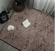 GRENSS INS mode große Super Weiches Flanell schwarz/weiß Wolldecke 15 mm dicken weichen Wohnzimmer Teppich Spielteppich Rutschfeste Wolldecke Decke, K, 95 x 95 cm.
