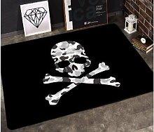GRENSS INS mode große Super Weiches Flanell schwarz/weiß Wolldecke Sonnengott soft Wohnzimmer Teppich Spielteppich Rutschfeste Wolldecke decke Kaffee mat, P, 120 x 80 cm