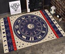 GRENSS INS mode große Super Weiches Flanell schwarz/weiß Wolldecke Sonnengott soft Wohnzimmer Teppich Spielteppich Rutschfeste Wolldecke decke Kaffee Matte, K, 120 x 80 cm