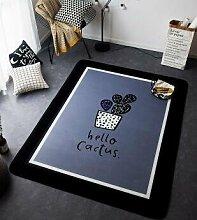 GRENSS Neue ins Mode Teppich Super Weiches Flanell schwarz/weiß Wolldecke dicken weichen Wohnzimmer Teppich Spielteppich Rutschfeste Wolldecke decke Pad, C, 50 cm x 70 cm
