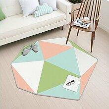 GRENSS Neue koreanische Stil liebevoll Teppich Baby krabbeln Fußmatte fünf Sterne Schlafzimmer Wohnzimmer Wolldecke, Grün, 110 cm 120 cm